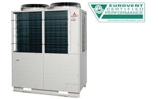 Los sistemas VRF de Mitsubishi Heavy Industries certificados por Eurovent