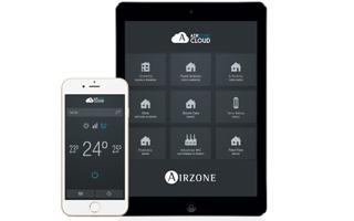 Airzone integra todos los equipos de una instalación en un solo sistema con acceso remoto para el profesional