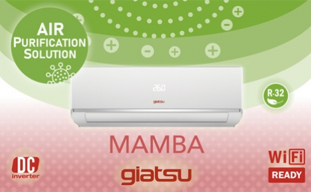Nuevo split 1x1 Giatsu MAMBA, super silencioso, con plasma antivirus y antibacterias
