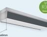 Nueva cortina de aire Panasonic compatible con R32 y con diseño más delgado para espacios pequeños