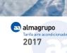 Nueva tarifa de Aire acondicionado, Accesorios y Ventilación 2017 de Almagrupo