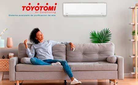 Gama de aire acondicionado doméstico ultra silencioso con tecnología Wi-Fi de TOYOTOMI