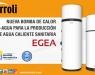 Nueva bomba de calor aire-agua EGEA de Ferroli para la producción de agua caliente sanitaria