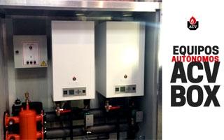 Equipos autónomos para generación de calor con calderas a gas para exterior BOX de ACV