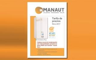La Tarifa Manaut 2017 renueva su gama de calderas de condensación