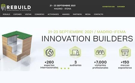 REBUILD 2021 reunirá en Madrid las soluciones para la nueva edificación