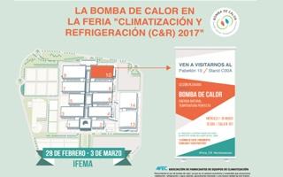 La Bomba de Calor tendrá presencia en Jornadas y Stand en la feria Climatización y Refrigeración (C&R) 2017