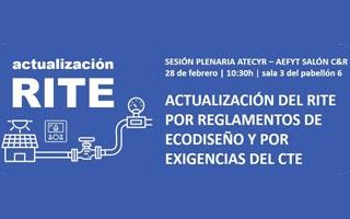 Actualización del RITE por reglamentos de ecodiseño y por exigencias del CTE