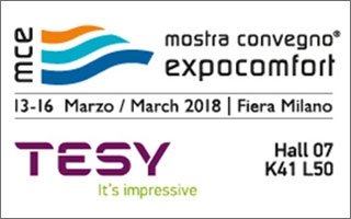 Tesy participa en la feria MCE Expocomfort de Milán entre el 13 y el 16 de marzo de 2018