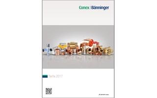 Nueva Tarifa 2017 Conex|Bänninger con novedades en accesorios para tubería