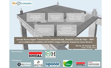 """BioEconomic presenta su nuevo webinar:  """"Construcción Industrializada, Modular, Ciclo de Vida + BIM"""""""