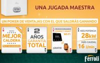 Ferroli ofrece un poker de ases con sus modelos de calderas murales Bluehelix Pro RRT y Bluehelix Tech RRT
