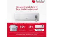 Regalo de tarjetas Solred por la compra de aire acondicionado Saunier Duval