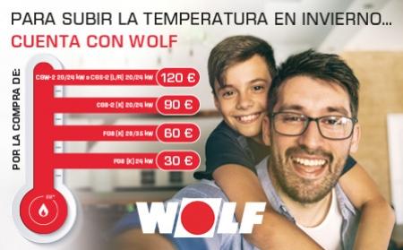 Campaña Invierno WOLF 2020: consigue bonificaciones al comprar calderas Wolf