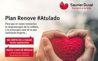 Saunier Duval lanza su Plan Renove: los usuarios no pagan nada hasta septiembre y reciben hasta 250 € por caldera