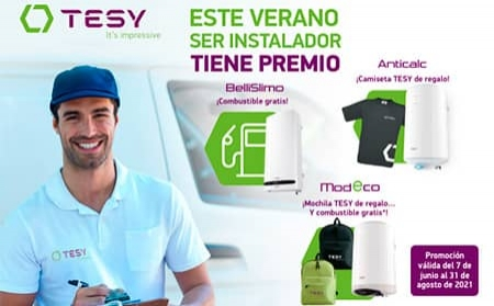 TESY anuncia una nueva promoción sobre sus termos eléctricos para instaladores