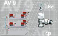 Válvulas termostáticas Oventrop AV9 y AQ para equilibrado hidráulico de los radiadores
