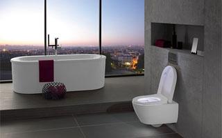 Confortable asiento de inodoro ViSeat de Villeroy & Boch con muchos extras