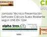 CNI expone el programa de cálculo de suelo radiante según UNE EN 1264