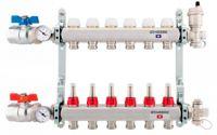 Kit colector de acero inoxidable Genebre para sistemas de suelos radiantes