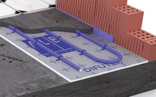 JUJUJU AQUACENTER, S.L. distribuye el sistema de suelo radiante Difutec de ALB