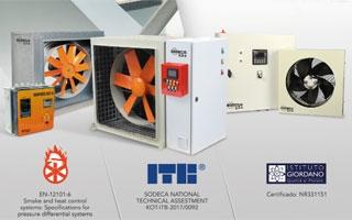 Sistemas de sobrepresión Sodeca, la opción más segura en caso de incendio